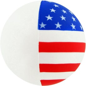 Logo Patriotic Round Ball Stress Toy