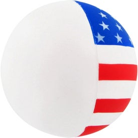 Patriotic Round Ball Stress Toy with Your Logo