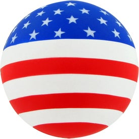 Patriotic Round Ball Stress Toy Printed with Your Logo
