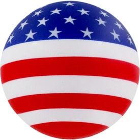 Monogrammed Patriotic Stress Ball