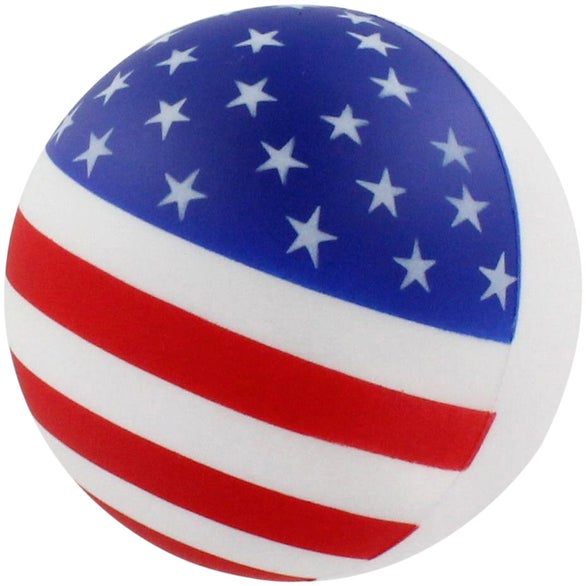 American Flag Patriotic Stress Ball