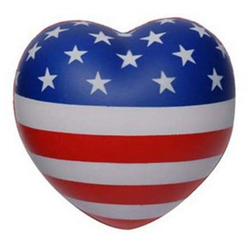 Patriotic V Heart Stress Toy