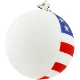 Promotional Patriotic Ball Stress Ball Key Chain