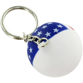 Company Patriotic Ball Stress Ball Key Chain
