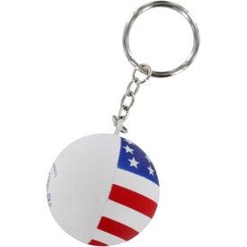 Company Patriotic Ball Stress Ball Key Chain