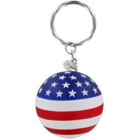 Patriotic Ball Stress Ball Key Chain