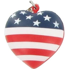 Patriotic Heart Stress Ball Key Chain for Advertising