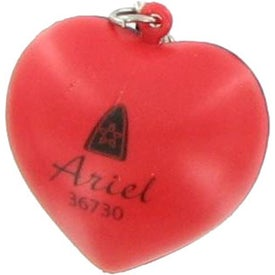 Imprinted Patriotic Heart Stress Ball Key Chain