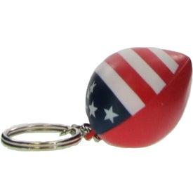 Patriotic Heart Stress Ball Key Chain for Marketing