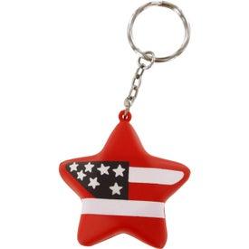 Patriotic Star Stress Ball Key Chain