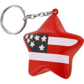Patriotic Star Stress Ball Key Chain for Your Organization