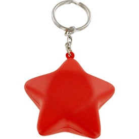 Printed Patriotic Star Stress Ball Key Chain