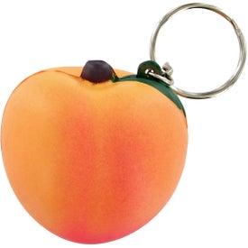 Peach Keychain Stress Toy with Your Logo