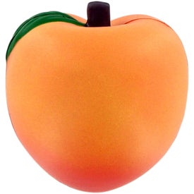 Printed Peach Stress Ball