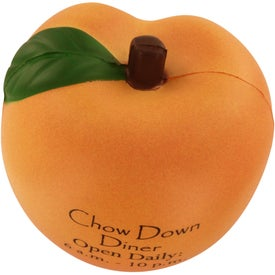 Branded Peach Stress Ball