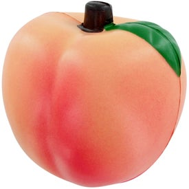Peach Stress Toy Branded with Your Logo