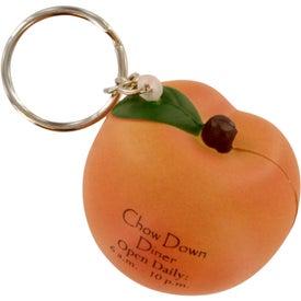 Peach Stress Ball Key Chain for Marketing