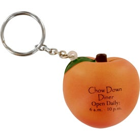 Peach Stress Ball Key Chain
