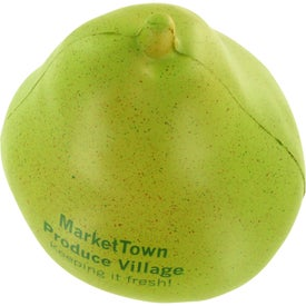 Pear Stress Ball Imprinted with Your Logo