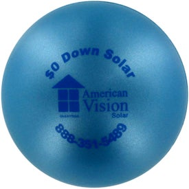Logo Pearl Luster Squeeze Ball Stress Relievers