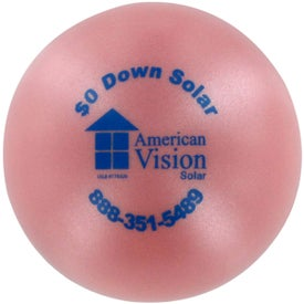 Pearl Luster Squeeze Ball Stress Relievers for Your Church