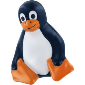 Logo Sitting Penguin Stress Reliever