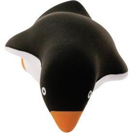 Penguin Stress Ball with Your Slogan