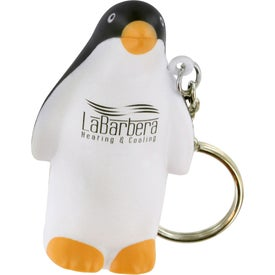 Penguin Stress Ball Key Chain Printed with Your Logo