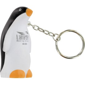 Printed Penguin Stress Ball Key Chain
