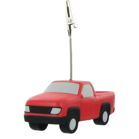 Personalized Pick Up Truck Stress Ball Memo Holder