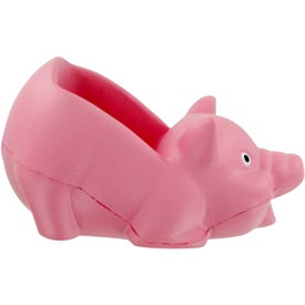 Pig Cell Phone Holder Stress Toy Printed with Your Logo