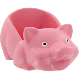 Monogrammed Pig Cell Phone Holder Stress Toy
