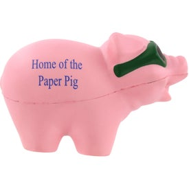 Logo Cool Pig with Sunglasses Stress Ball