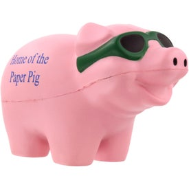 Cool Pig with Sunglasses Stress Ball Branded with Your Logo