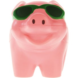 Cool Pig with Sunglasses Stress Ball for Advertising