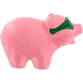 Imprinted Cool Pig with Sunglasses Stress Ball