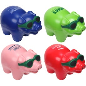 Cool Pig with Sunglasses Stress Ball