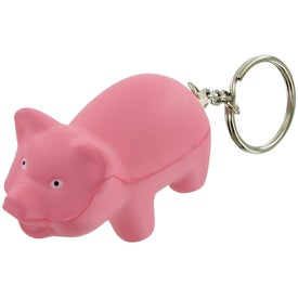 Pig Keychain Stress Toy with Your Logo