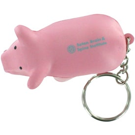 Personalized Pig Key Chain Stress Relievers