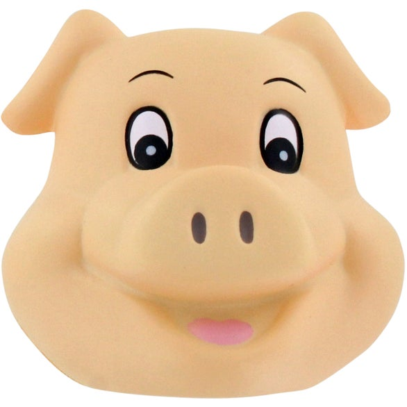 Beige Pig Funny Face Stress Ball
