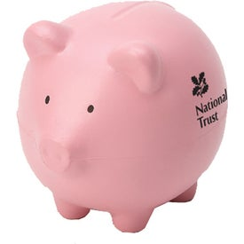 Imprinted Pink Pig Stress Ball