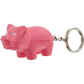 Pig Stress Ball Key Chain for your School