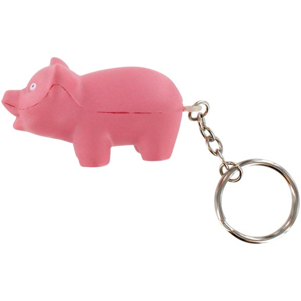 Pig Stress Ball Key Chain