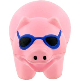 Customized Pig With Sunglasses Stress Toy