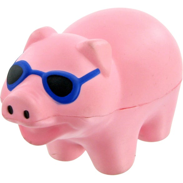 Pig With Sunglasses Stress Toy