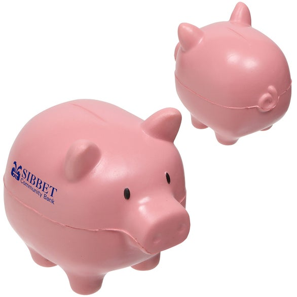 Pink Piggy Bank Slo-Release Serenity Stress Ball
