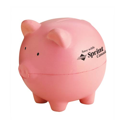 Promotional Piggy Bank Stress Shapes With Custom Logo For