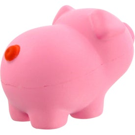Pink Pig Stress Toy Branded with Your Logo