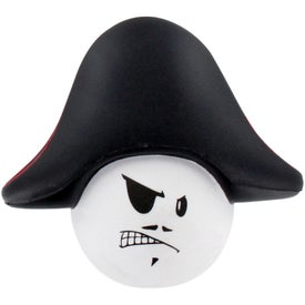 Imprinted Pirate Mad Cap Stress Ball