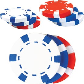 Stack of Poker Chips Stress Reliever for Promotion